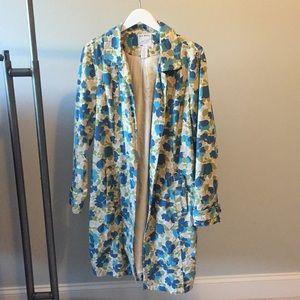 Adorable Old Navy blue flower coat!